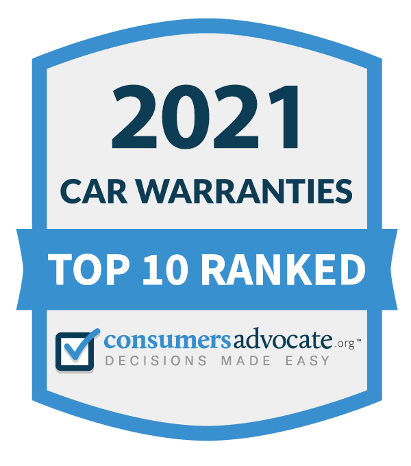 top ten car warranties of 2021